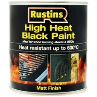 Rustins  High Heat Black Paint - 500ml