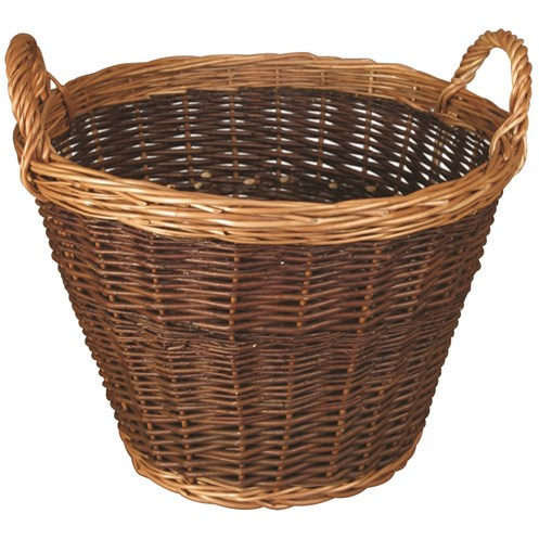 JVL  Large Two Tone Willow Log Basket