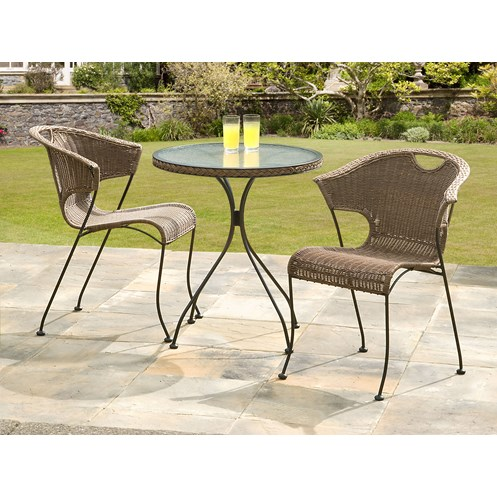 Suntime  Wadebridge Rattan 2 Seater Bistro Set