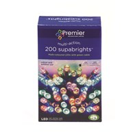 Premier Decorations  200 LED Supabright Lights - Multi-Coloured