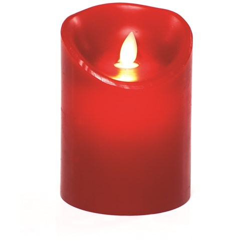 Premier Decorations  Red LED 'Dancing Flame' Candle - 13cm