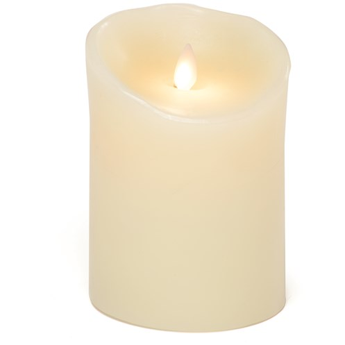 Premier Decorations  Cream LED Battery Wax Candle - 7cm