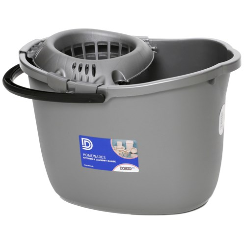 Dosco  Mop Bucket with Wringer - Silver