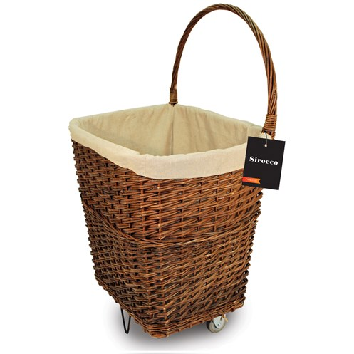 Sirocco  Natural Wicker Firelog Cart - Large