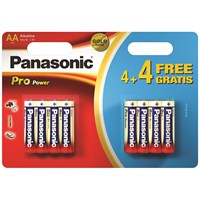 Panasonic  Pro Power Batteries AA - 4 + 4 Free