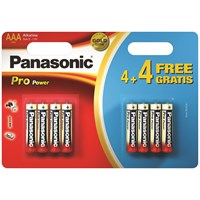 Panasonic  Pro Power Batteries AAA - 4 + 4 Free