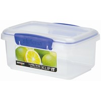 Sistema Klip It Rectangular Food Storage Box Clear - 1 Litre