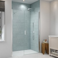 Merlyn  8 Series Frameless 1000mm Pivot Door &700mm Inline Panel